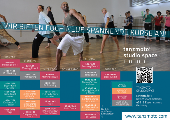 Schedule TANZMOTO STUDIO SPACE 2019